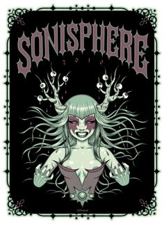 Sonisphere poster by Tara McPherson via http://www.fromupnorth.com/in-focus-artist-tara-mcpherson/