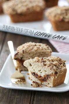 Pumpkin-Sour Cream Coffee Cake