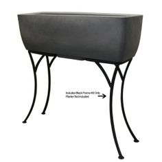 RTS Home Accents Elevated Planter Wrought Iron Stand Only for 36-Inch Long Planter, Black