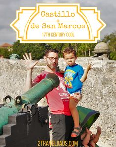 One of the coolest historic sites to visit with kids, the Castillo de San Marcos, is the perfect blend of fun, history, beauty and kid-friendly awesomeness. 2traveldads.com