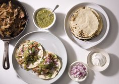 Carnitas with Grilled Salsa Verde and Tortillas - Bon Appétit