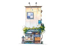 Gallery of These Watercolors Capture the Unsung Architecture of Tokyo's Eclectic Storefronts - 4