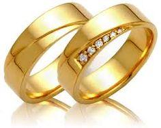 linda aliança de noivado