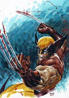 Wolverine doing what he does best.