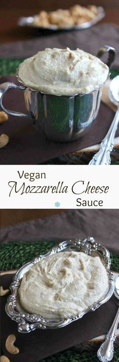 Vegan Mozzarella Cheese is easy to make and is the perfect texture. A little gooey for dips and spreads and creamy enough to spread for layers in casseroles. ~ http://veganinthefreezer.com