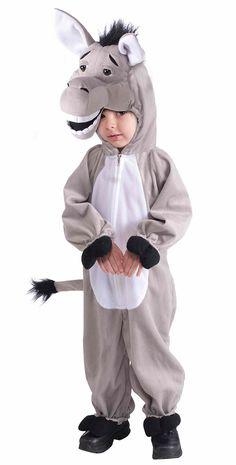 Plush Donkey Kids Costume | Costume Craze