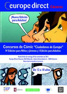 """IV Concurso de Cómic para niños y jóvenes / I Concurso para Adultos """"Ciudadanos de Europa"""" 2012"""
