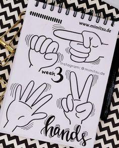 Doodles. Doodler, Doodling, Doodle a day, Sketchbook, Sketchnotes, visual vocabulary, visuelles wörterbuch, scribble, Sketch, Doodle Inspiration, Doodle Idea, Ideen, How to draw, cute drawings, malen einfach, kids, kinder, zeichnen, hands, hände