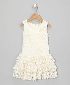 little mass-Ivory Summer Vine Dress