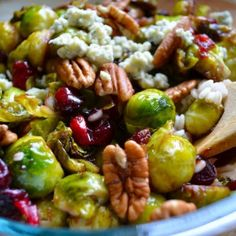 Pan Seared Brussels Sprouts with Cranberries  Thanksgiving side Dish?