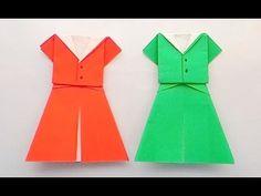 Origami Dress ...พับชุดน่ารัก... - YouTube