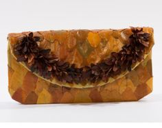 Clutch bag, Flower bag, NATURAL Leaves, Natural Materials, HANDMADE bag, unique bag, PISTACIA leaves, Eleagnus leaves, Smouth delicate Touch  This beautiful clutch bag is made from natural leaves. The natural materials are processed so as not to lose their elasticity, keeping great durability. Lets celebrate the Happy Mother's Day with 20% discount on all products.  FLOWER BAG!!! An adorable gift to our only mom!!! Visit: www.etsy.com/shop/ArtFler