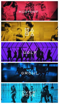 Exo ~ History Mama Wolf Growl Overdose *-* the only reason imma pin this coz you can see sehun ;)