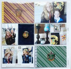 Scraps of Shirlee: September 2015 Hybrid Layouts - Harry Potter Edition Hogwarts Party Project Life Scrapbook Page Layout Sorting Ceremony