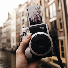 Instax mini 8 in retro thing (idk the one that looks like this)