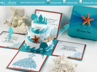 Beach Theme Exploding Box Invitations designed by jinkyscrafts. can be customize for Sweet Sixteen, Weddings and other occasion.