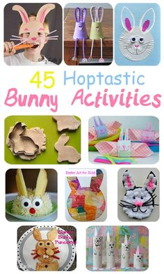 Looking for hoptastic Easter Bunny ideas for kids? Here's 45 of the best rabbit crafts, activities & tasty treats to fill your Easter with bouncy bunny fun!