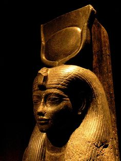 The Goddess Hathor, circa 1350 BCE #egypt #egyptian #sculpture