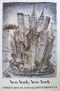 1981 Original Liberty House Department Store Poster, New York City