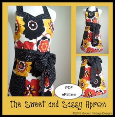 another even cuter apron pattern!