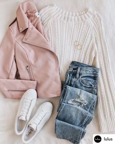 It-girl vibes and the BB Dakota Just Ride Mauve Vegan Leather Moto Jacket go hand in hand! Vegan leather forms a moto design with an asymmetrical front. Mode Outfits, New Outfits, Teen Fall Outfits, Winter Fashion Outfits, Modest Fashion, Fall Fashion, Fashion Women, Cute Casual Outfits, Aesthetic Clothes