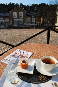 Cafe Fanny (Old Town, Porvoo) is one of the few placies in Finland that sell Runeberg´s tortes all around the year. Tea and the little delicious thing costs 6 euros together, but is is so worth it!