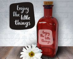 Enjoy The Little Things  17oz Laser Etched by HumbleElephant