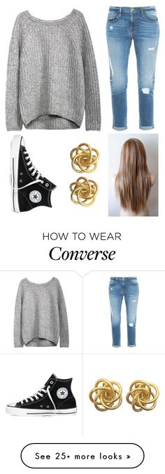 """mr. brightside - the killers"" by house-of-gold on Polyvore featuring Frame Denim and Converse"