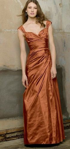 copper dress/¸.•´¸.•*´¨) ¸.•*¨) (¸.•´ (¸.•` ¤ Be Beautiful/ Weddings Idea for you Cuqui Soto  | teal and copper wedding | www.endorajewellery.etsy.com