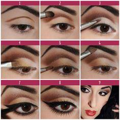 Make pra arrasar! #make #diva #eyes #olhos #diy