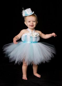 This listing is for one Frosted Fairy tutu dress. ***This dress is custom made to order.    ***Mini Top Hat Headband is sold separately.