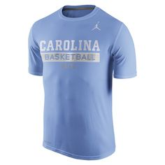 082e65ece1f0 North Carolina Tar Heels Nike Basketball Practice Performance T-Shirt -  Carolina Blue basketball t-shirt