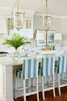 nautical {blue&white} kitchen
