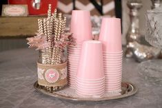 Shabby Chic, Vintage Glam Bridal/Wedding Shower Party Ideas Photo 1 of 32 Catch My Party Baby Shower Party Deko, Girl Shower, Baby Shower Parties, Baby Shower Themes, Shower Ideas, Shower Bebe, Baby Shower Food For Girl, Cumpleaños Shabby Chic, Shabby Chic Baby Shower