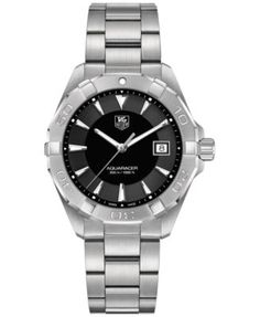 TAG Heuer Men's Swiss Aquaracer Stainless Steel Bracelet Watch 41mm WAY1110.BA0928 | macys.com
