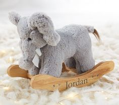 Doll Plush Elephant Rocker #pbkids