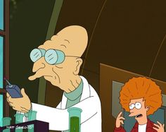 Futurama.  Forgot what they say in this scene, but I know it's hilarious just by looking at them.