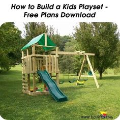 How to Build a Kids Playset - Free Plans Download - http://www.hometipsworld.com/how-to-build-a-kids-playset-free-plans-download.html