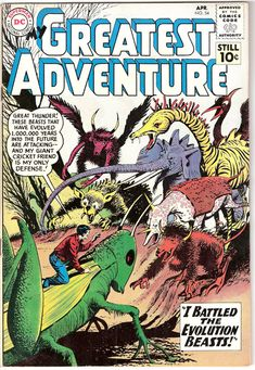 My Greatest Adventure 54 DC Comics Outer I Battled the Evolution Beasts Darwin Dinosaurs Space Aliens 1961 VF by LifeofComics #comicbook