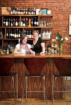 Owner Laura Norris, left, with Missy Koonce, bartender and entertainer extraordinaire. Cucina della Ragazza   Kansas City Spaces