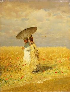 Tra le spighe del grano, 1873 Giuseppe de nittis (Barletta, 25 February August Between the ears of corn, 1873 Italian Painters, Italian Artist, Art And Illustration, Gravure Photo, Framing Canvas Art, Salon Art, Guache, Impressionist Art, Mellow Yellow