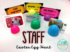 I posted about a Staff Easter Egg hunt on Instagram and many people were interested in how it worked. I don't have too...