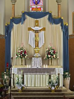 Eucharistic Adoration at Immaculate Conception Roman Catholic Church, in Old Monroe, Missouri, USA -