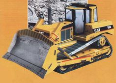 A Bulldozer Free Paper Model Download - http://www.papercraftsquare.com/a-bulldozer-free-paper-model-download.html#150, #Bulldozer