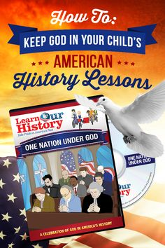 "Are your kids learning about God's role in US history?  Keep God in your children's history lessons with Learn Our History's animated DVD adventures! As your kids join a group of time-traveling history students, they'll get a front row seat to history in the making and learn how God has impacted our great nation! Get your first episode, ""One Nation Under God"" for *FREE*. Just pay $1 s&p when you try Learn Our History.  Includes FREE online streaming and FREE downloadable learning guides!"