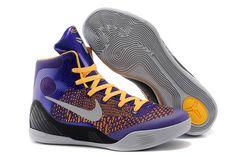 Zoom Air Kobe 9 Women Size Purple/Grey/Orange Nike Bryant Training Sneaker