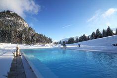 Berghotel Schlossanger Alp Pfronten. Auch hier sollte man sich mal eiskalt schwimmtechnisch ausgetobt haben