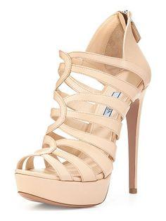 Prada Strappy cage high-heel sandal