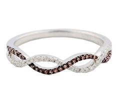 Midwest Jewellery Cognac and White Diamond Anniversary Wedding Band Twisted Infinity Ring I/j, – Charles Tyson Gifts Diamond Anniversary Bands, Anniversary Rings, Diamond Wedding Bands, Wedding Ring Designs, Wedding Jewelry, Wedding Rings, Bridal Jewellery, Wedding Engagement, Thing 1