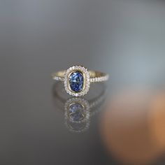 Sapphire and diamond ring at Sarah O. Jewelry in Denver, CO